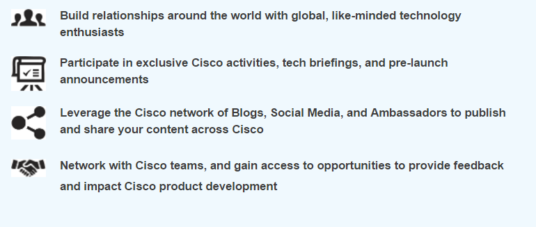 Click on the link to reach the Cisco Community Portal